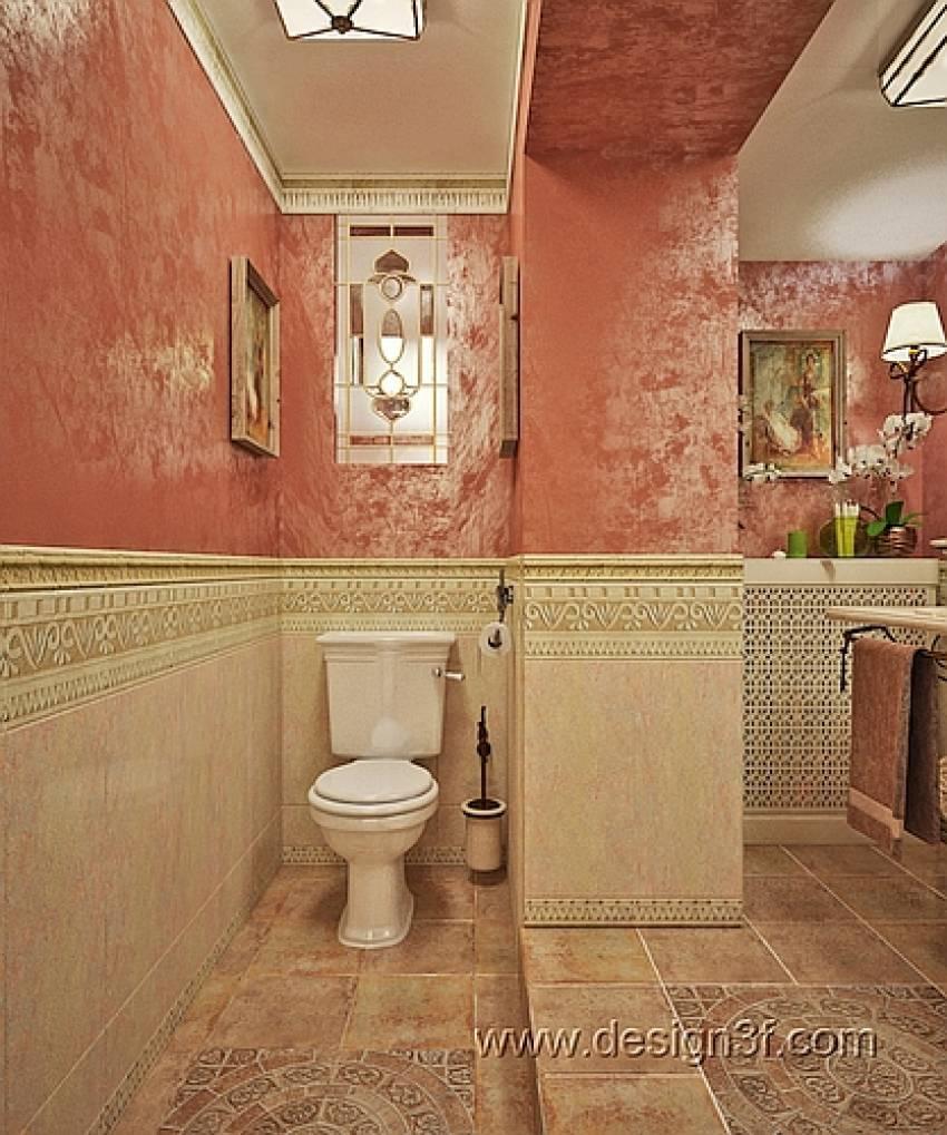 Декоративная штукатурка в отделке ванной комнаты