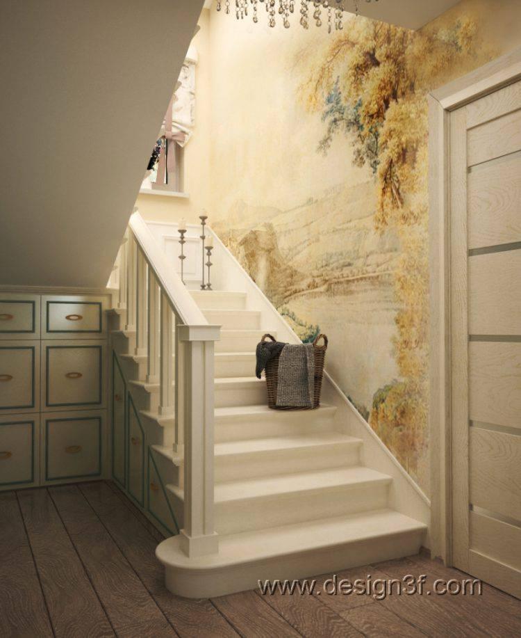 Варианты использования пространства под лестницей