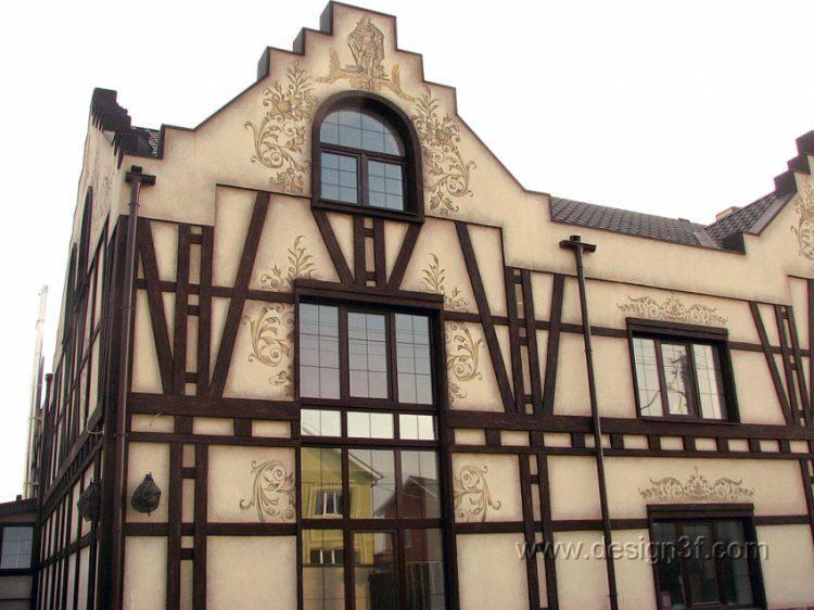 Фасад дома в стиле «Фахверк»