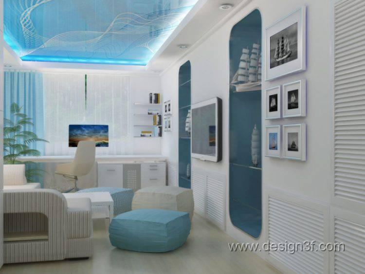 Модная детская комната в белом цвете