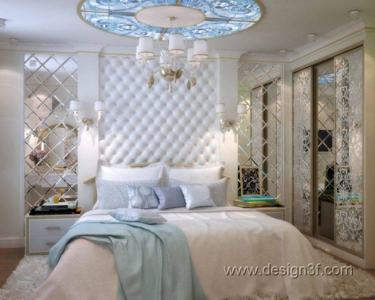 Гламурный интерьер спальни