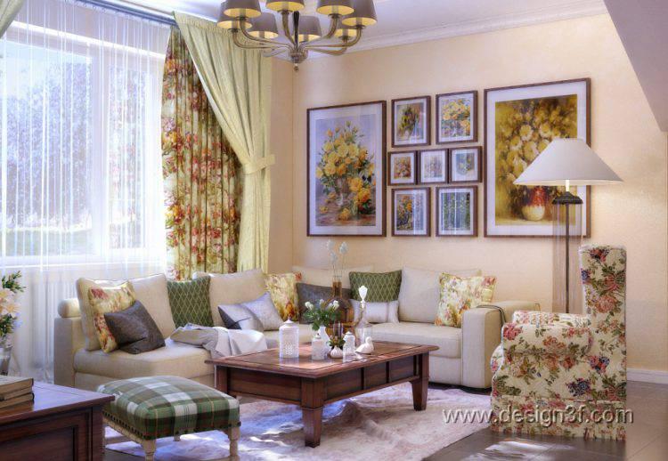 Разные стили в интерьере гостиной