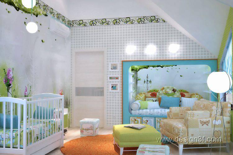 Интерьер детской комнаты в сказочном стиле