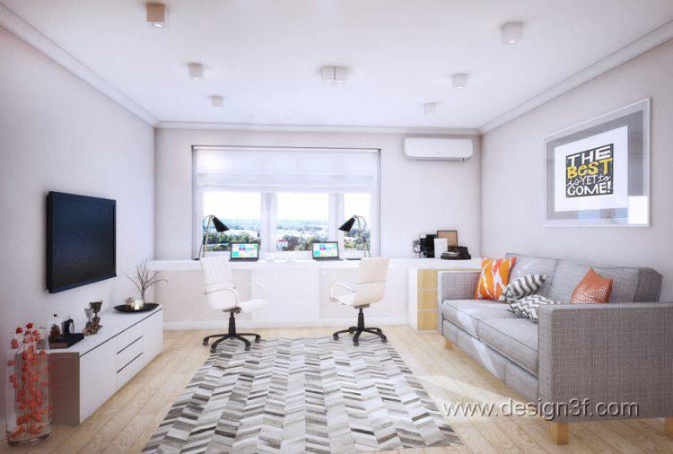 Дизайн интерьера однокомнатной квартиры 40 м кв