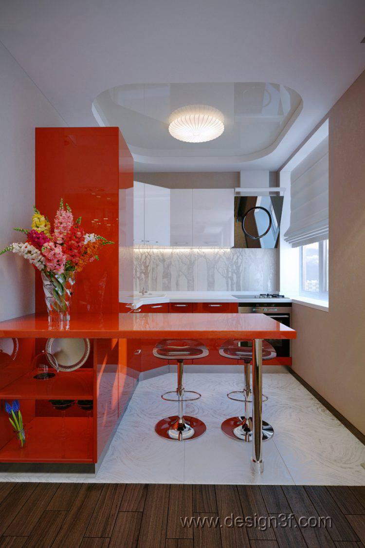 Яркая эргономичная кухонная мебель — как модная тенденция