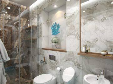 Морская тематика в интерьере ванной