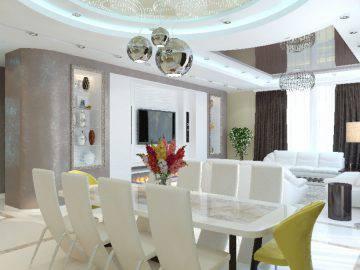 Современные идеи в дизайне гостиной