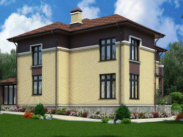 Дизайн проект фасада дома 240 м2