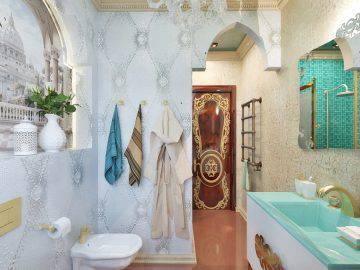 Интерьер ванной комнаты в восточном стиле