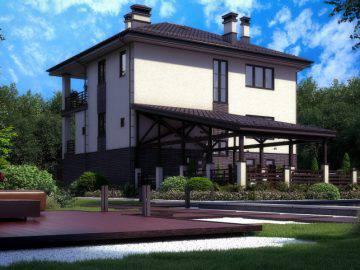 Проект дома 300 м2 с цокольным этажем