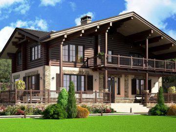 Дизайн проект фасада дома 295 м2