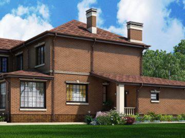 Дом 290 кв.м. из поризованных блоков