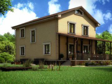 Дизайн фасада загородного дома 162 кв. м.