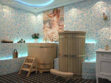 Фитобочка в ванной комнате