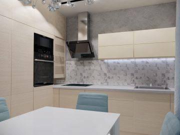 Дизайн интерьера современной кухни:оформление в светлых тонах