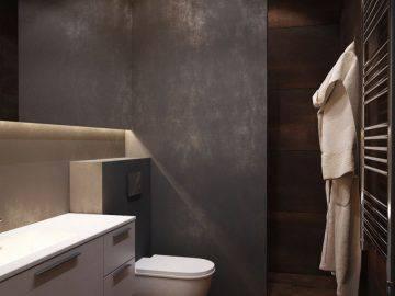 Микроцемент в отделке ванной комнаты