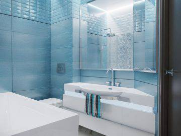 Дизайн ванной комнаты с белой мебелью