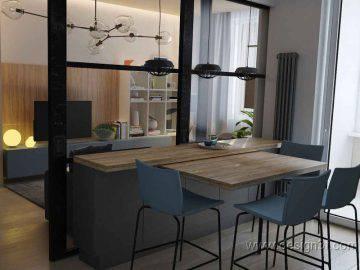 Современная кухня серого цвета