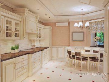 Красивый интерьер классической кухни