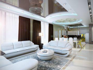 Дизайн светлой гостиной в современном стиле