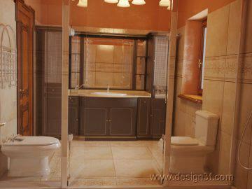 Ванная комната терракотового цвета