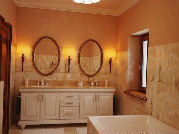 Красивая ванная комната классика