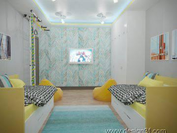 Бирюзовый цвет в оформлении детской комнаты