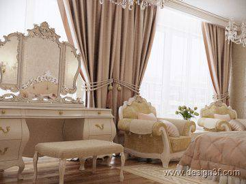 Светлая мебель в интерьере спальни