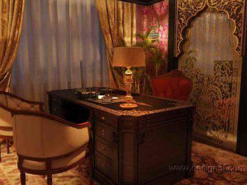 Интерьер кабинета в восточном стиле