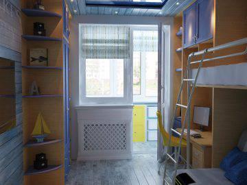 Морская тематика в интерьере детской комнаты