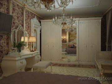 Интерьер спальни классический стиль