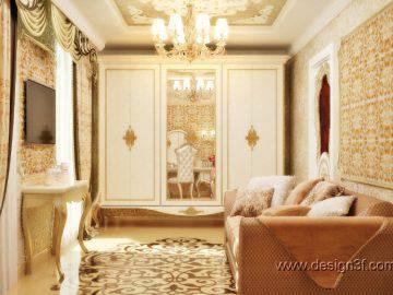 Дизайн интерьера комнаты в желтых тонах