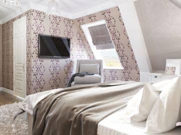Комната для гостей на мансардном этаже