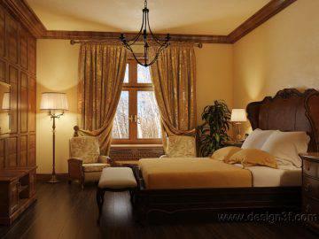 Большая спальня в английском стиле