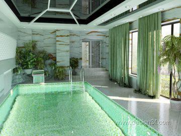 Интерьер бассейна в частном доме