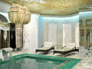 Дизайн бассейна в восточном стиле