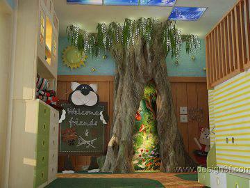 Дизайн детской «сказочный лес»
