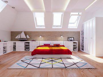 Большая детская комната в современной стилистике