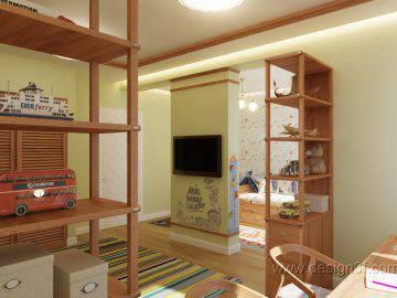 Детская комната в морском стиле для двоих мальчиков
