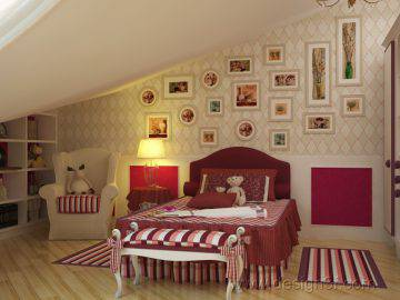Дизайн детской комната для девочки