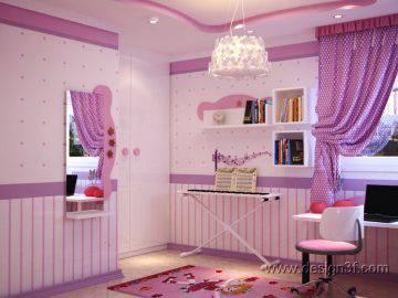 Дизайн интерьера розовой детской комнаты