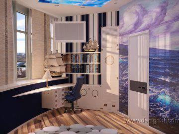 Дизайн детской в морском стиле