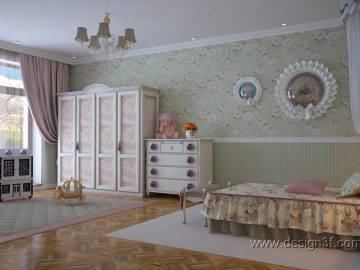 Интерьер детской комнаты стиль классика
