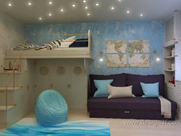 Комната в морском стиле для мальчика