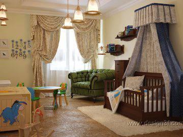 Интерьер детской комнаты в доме