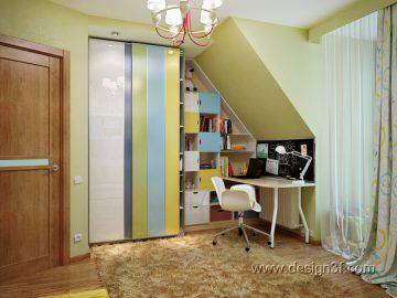Современный стиль в интерьере детской комнаты