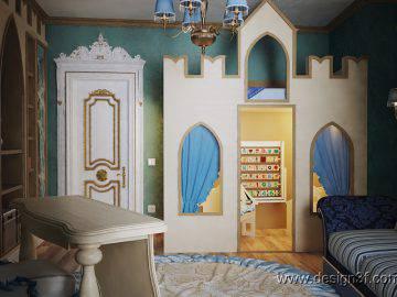 Детская комната бирюзового цвета