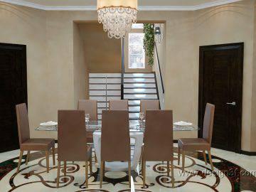Интерьер столовой в стиле арт-деко