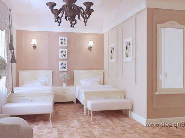 Гостевая спальня в светлых тонах