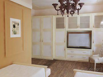 Интерьер спальни для гостей классика